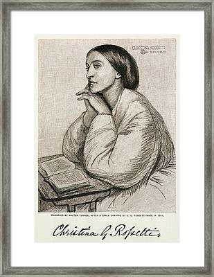 Christina Rossetti  English Poet Framed Print