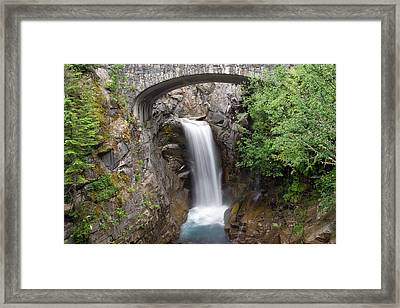 Framed Print featuring the photograph Christine Falls Mount Rainier National Park by Bob Noble Photography