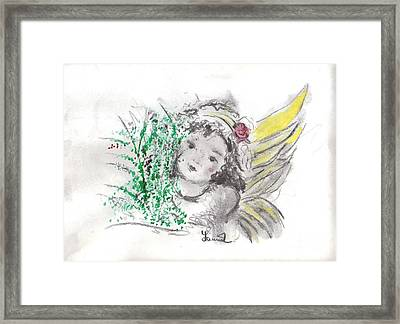 Christmas Angel Framed Print by Laurie L