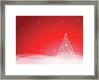 Christmas Background Framed Print by Traffic analyzer
