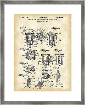 Christmas Bulb Socket Patent 1936 - Vintage Framed Print