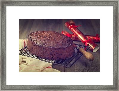 Christmas Cake Framed Print