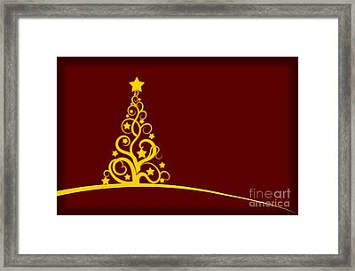 Christmas Card  Framed Print by Martin Capek