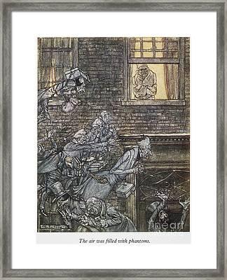 Christmas Carol Framed Print by Granger