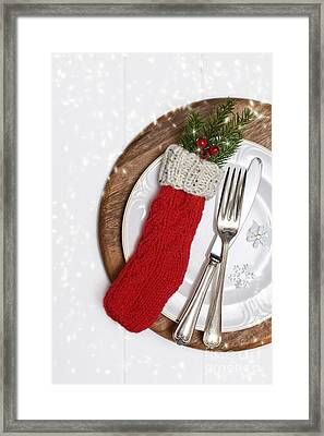 Christmas Cutlery Framed Print