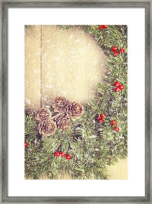 Christmas Garland Framed Print