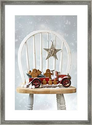 Christmas Gingerbread Framed Print by Amanda Elwell