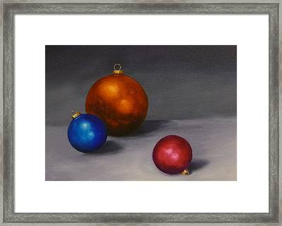Christmas Glow Greeting Card  Framed Print