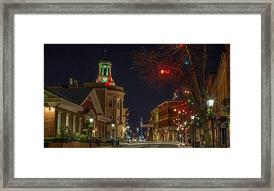Christmas In Bath Framed Print