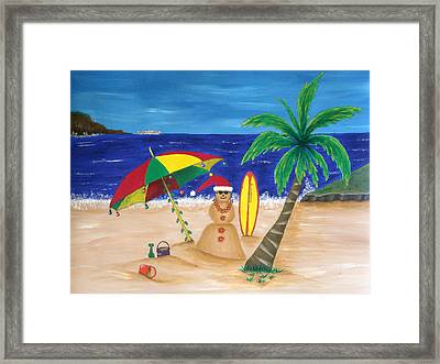 Christmas In Kona Framed Print by Pamela Allegretto