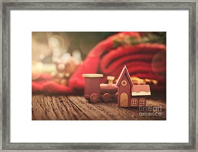 Christmas Rustic Decoration Framed Print