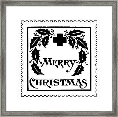 Christmas Seal, 1907 Framed Print by Granger