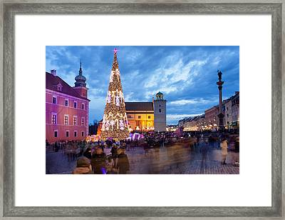 Christmas Time In Warsaw Framed Print
