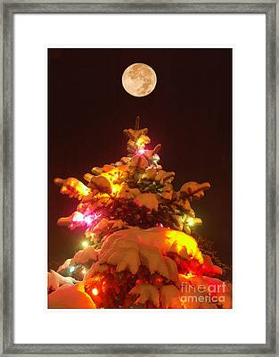 Framed Print featuring the digital art Christmas Tree Seneca Falls by Tom Romeo