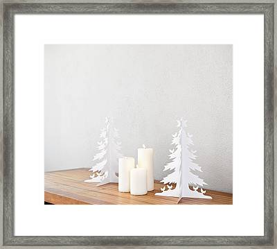 Christmas Tree Framed Print by Ulrich Schade