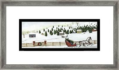 Christmas Valley Sleigh Framed Print