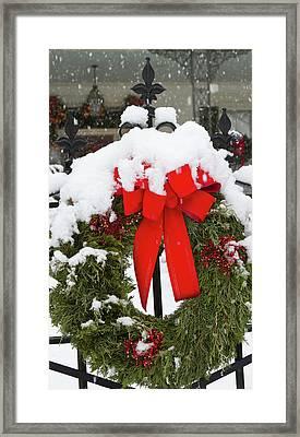 Christmas Wreaths And A Rare Holiday Framed Print