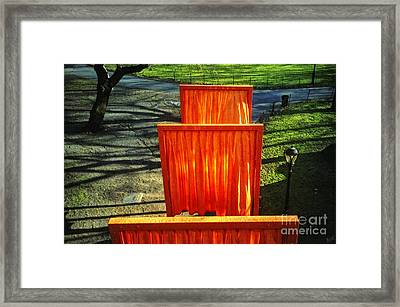 Christo - The Gates - Project For Central Park Framed Print by Nishanth Gopinathan