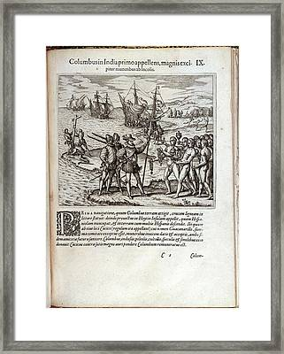 Christopher Columbus Framed Print by British Library