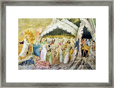 Christs Descent Into Limbo, 14th Century Framed Print by Sheila Terry