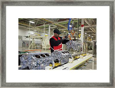 Chrysler Engine Factory Framed Print by Jim West