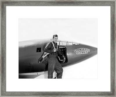 Chuck Yeager And Bell X-1 Framed Print