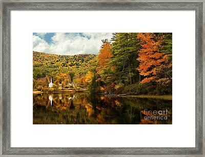 Church By The Lake Framed Print by Brenda Giasson