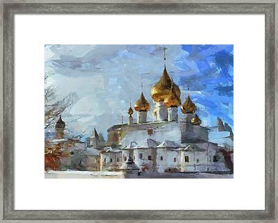 Church In Winter Framed Print by Yury Malkov