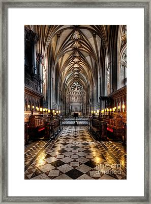 Church Interior Framed Print by Adrian Evans