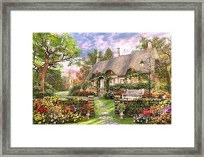 Church Lane Cottage Framed Print by Dominic Davison