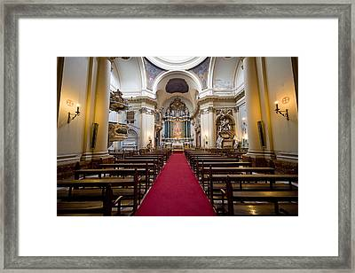 Church Of Santa Barbara Interior In Madrid Framed Print by Artur Bogacki