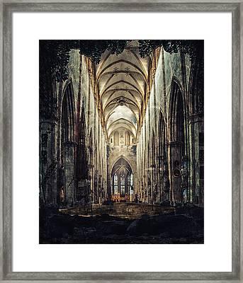 Church Of Solitude Framed Print by Ryan Wyckoff