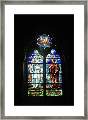 Church Of The Covenant Stained Glass 11 Framed Print