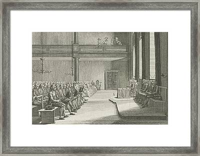 Church Service Of The Brethren In Zeist The Netherlands Framed Print by Quint Lox
