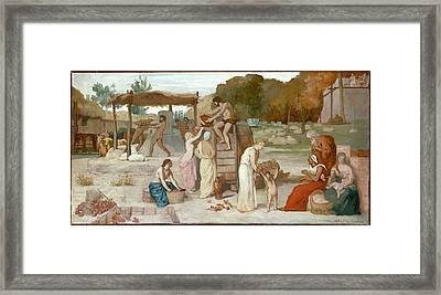 Cider Framed Print by Pierre Puvis de Chavannes