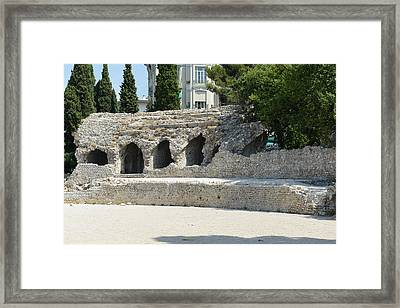 Cimiez Arenas Roman Ruin In Nice France Framed Print by Brandon Bourdages