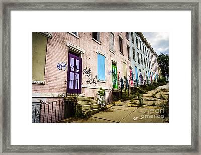 Cincinnati Glencoe-auburn Row Houses Picture Framed Print by Paul Velgos