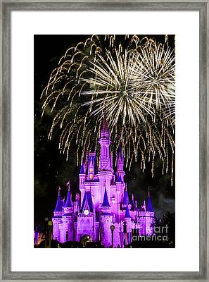 Magic Kingdom Cinderella Castle Framed Print