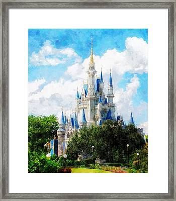Cinderella Castle Framed Print by Sandy MacGowan