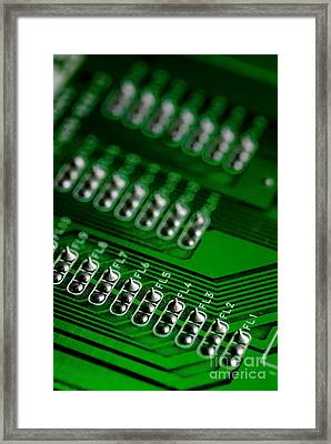 Circuit Board Bokeh Framed Print by Amy Cicconi