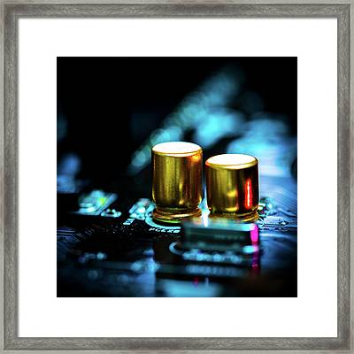 Circuit Board Framed Print by Wladimir Bulgar