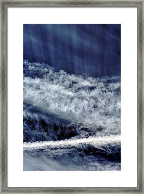 Cirrus Clouds And Contrails Framed Print by Babak Tafreshi