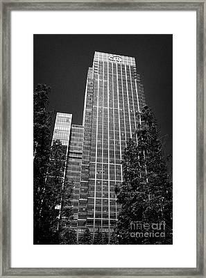 citigroup centre 33 and 25 canada square canary wharf London England UK Framed Print