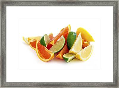 Citrus Wedges Framed Print