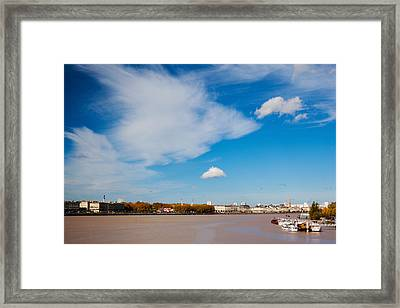 City At The Waterfront, Garonne River Framed Print