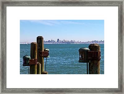 City By The Bay Framed Print by Bernard  Barcos