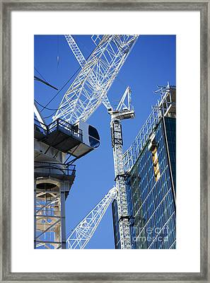 City Construction Framed Print