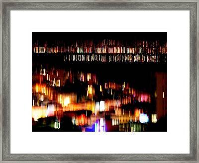 City Lights Framed Print by Mamie Gunning