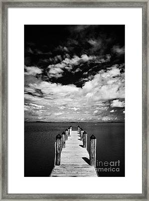 City Of Marathon Fire Engine Rescue Vehicle Emergency Services Florida Keys Usa Framed Print by Joe Fox
