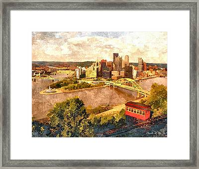 City Of Pittsburgh Framed Print by Charles Ott
